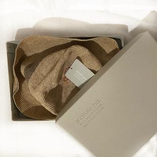 ネストローブ(nest Robe)のt2&n様専用 mature ha. BOXED HAT カーキ(麦わら帽子/ストローハット)