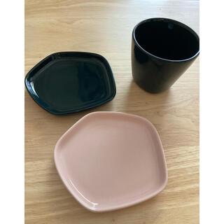 イッタラ(iittala)のイッタラ x イッセイミヤケ 小プレート2個xカップ(食器)