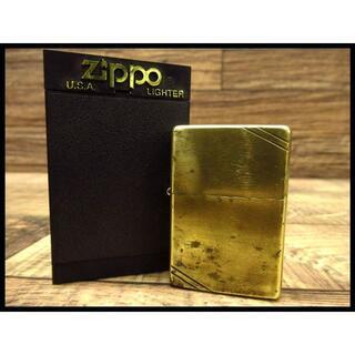 ジッポー(ZIPPO)の着火確認済 90s ジッポー 1937 レプリカ ソリッド ブラス ライター(タバコグッズ)