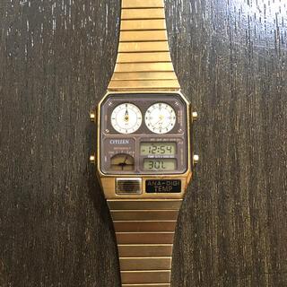 シチズン(CITIZEN)のCITIZEN GOLD ana-digi TEMP 腕時計 J(腕時計(デジタル))