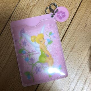 ディズニー(Disney)のパスケース ティンカーベル ピンク(名刺入れ/定期入れ)