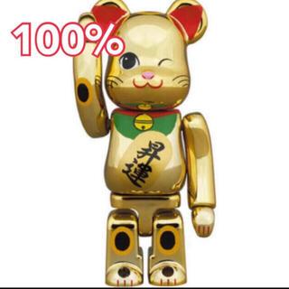 メディコムトイ(MEDICOM TOY)のBE@RBRICK ベアブリック 招き猫 昇運 弐 金メッキ 100%(その他)
