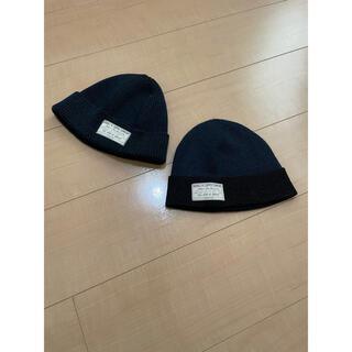 ダブルアールエル(RRL)のRRL/ニットキャップ/Navy/Navy×Black/セット(ニット帽/ビーニー)