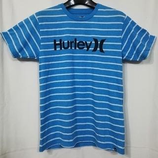 ハーレー(Hurley)の【USED】夏物 Hurley ハーレー ロゴ Tシャツ Mサイズ マリンブルー(Tシャツ/カットソー(七分/長袖))