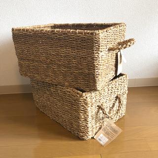 ムジルシリョウヒン(MUJI (無印良品))のバスケット かご 2個(バスケット/かご)