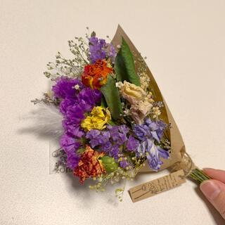 ドライフラワー お花たっぷりスワッグ 59 スターチス バラ(ドライフラワー)