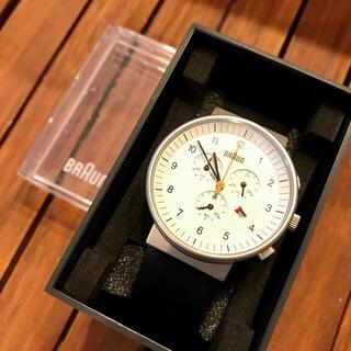 ブラウン(BRAUN)のBRAUN ブラウン クロノグラフ 腕時計 美品(腕時計(アナログ))