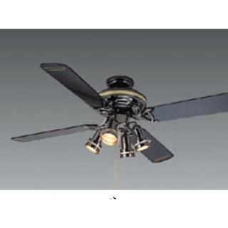 エヌイーシー(NEC)のNEC 白熱灯シーリングファン 黒 XZF-64100(天井照明)