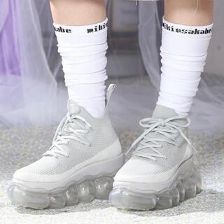 ミキオサカベ(MIKIO SAKABE)のMIKIOSAKABE✩︎Jewerly HIGH SHOES ice/gray(スニーカー)