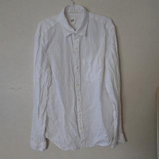 ギャップ(GAP)のGAP メンズシャツ M 白 (シャツ)