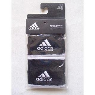 アディダス(adidas)の新品未開封 アディダス テニス リストバンド スモール ブラック 黒(その他)