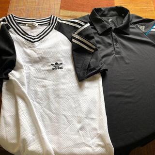 アディダス(adidas)のアディダスの夏物のシャツ1枚で1000円✖️2枚=2000円(送料込)(シャツ)