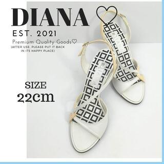 DIANA - ダイアナ DIANA ヒール サンダル ミュール サイズ22㎝ ストラップ