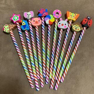 消しゴム付き鉛筆 12本セット(鉛筆)