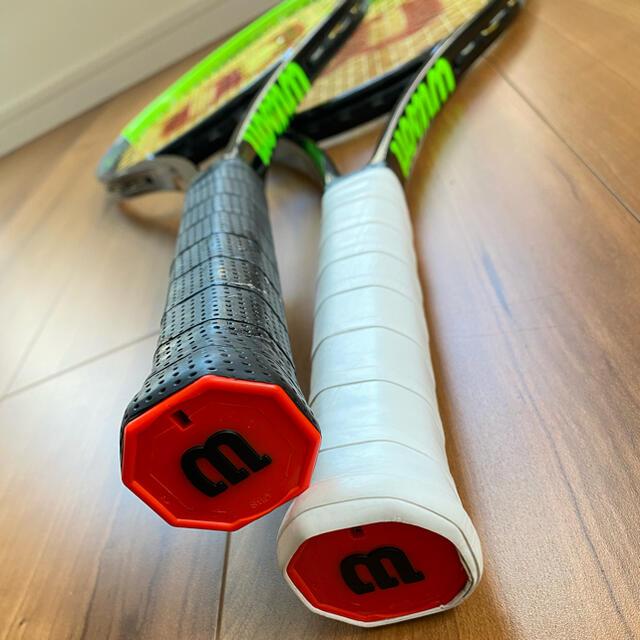 wilson(ウィルソン)の2本プロストック H22 BLADE v7 16×19 新型コスメ Wilson スポーツ/アウトドアのテニス(ラケット)の商品写真