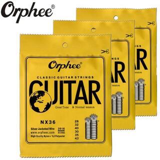 ★クラシックギター ナイロン・スチール弦 6本セット NX36(弦)