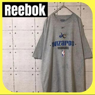 リーボック(Reebok)のReebokリーボック•NBA•半袖Tシャツ•プリント•グレー•L(Tシャツ/カットソー(半袖/袖なし))
