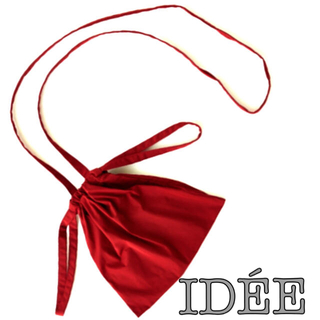 イデー(IDEE)のDrawstring Bag Strapドローストリング ショルダー巾着バッグ(ショルダーバッグ)