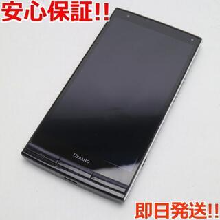 キョウセラ(京セラ)の美品 au URBANO L03 パープルブラック 白ロム(スマートフォン本体)