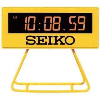 セイコー(SEIKO)のメーカー保証有り セイコークロック 目ざまし時計 黄色 SQ815Y(置時計)