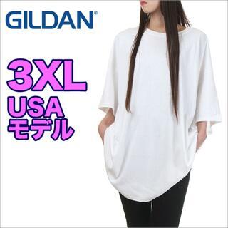 【新品】ギルダン 半袖 Tシャツ 3XL 白 GILDAN 無地 レディース