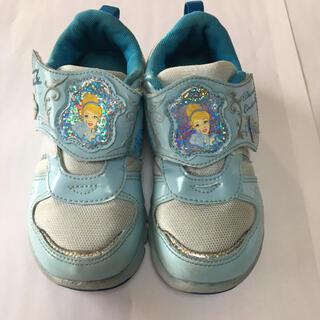 ディズニー(Disney)の☆プリンセス シンデレラ スニーカー 運動靴 女の子 軽量18cm(スニーカー)