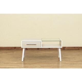 新品 送料無料 Altona 引き出し付きセンターテーブル ホワイト(ローテーブル)