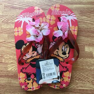 ディズニー(Disney)の【Disney】ビーチサンダル ミニーマウス(ビーチサンダル)
