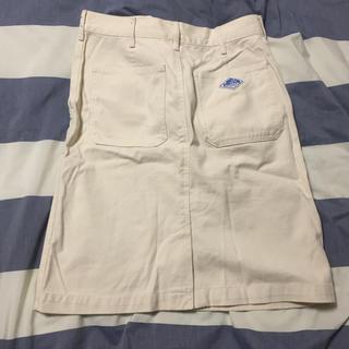 ダントン(DANTON)のdantonホワイトスカート(ひざ丈スカート)