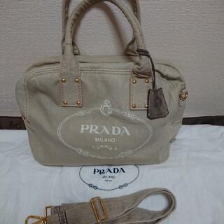 プラダ(PRADA)のPRADAキャンバス ショルダーバッグ(ショルダーバッグ)