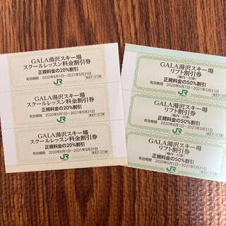 【3+3】 GALA湯沢スキー場 リフト50%割引券 & スキースクール割引券(スキー場)