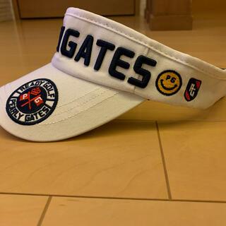 パーリーゲイツ(PEARLY GATES)の☆新品☆ パーリーゲイツ ゴルフ サンバイザー 白 男女兼用(サンバイザー)