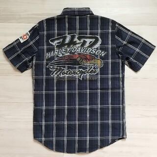 ハーレーダビッドソン(Harley Davidson)のハーレーダビッドソン メンズ シャツ 半袖シャツ ブラウス チェック (シャツ)