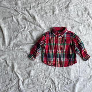 Ralph Lauren - ラルフローレン 定番 チェック柄 長袖シャツ 羽織り 70