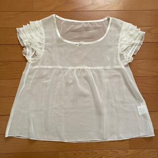 イーエーピー(e.a.p)のオフホワイトのシアートップス e.a.p(シャツ/ブラウス(半袖/袖なし))