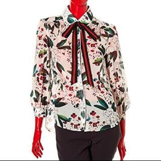 ダブルスタンダードクロージング(DOUBLE STANDARD CLOTHING)のダブルスタンダードクロージング 花柄 ブラウス sov(シャツ/ブラウス(長袖/七分))