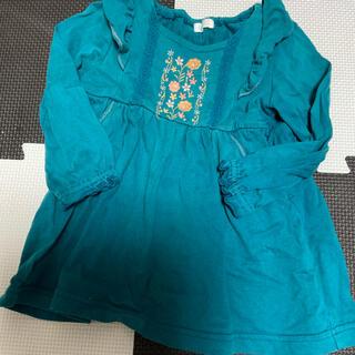 コンビミニ(Combi mini)のブルーグリーンが爽やかなチュニック 90(Tシャツ/カットソー)