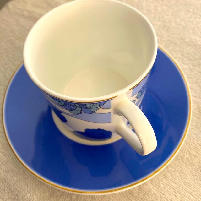 NIKKO(ニッコー)のニッコー ファインボーンチャイナ ティーカップ&ソーサー2脚セット インテリア/住まい/日用品のキッチン/食器(グラス/カップ)の商品写真