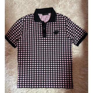 プラダ(PRADA)のPRADA ハイライン ブロックチェック 鹿の子 ポロシャツ(ポロシャツ)