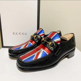 グッチ(Gucci)の☆美品 グッチ GUCCI ユニオンジャック ビット ローファー 黒 イタリア製(ドレス/ビジネス)