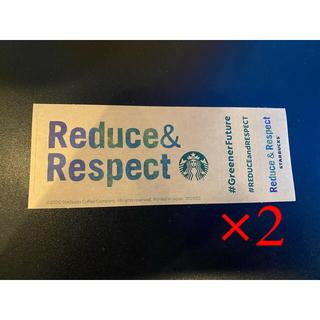 スターバックスコーヒー(Starbucks Coffee)のスターバックス ステッカー2枚(しおり/ステッカー)