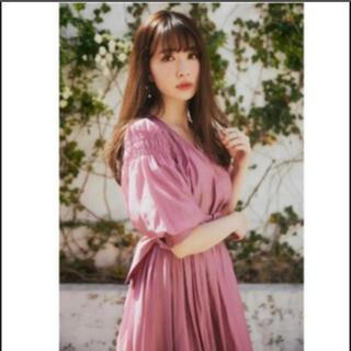 ワンピース 【新品未使用】Airy Volume Sleeve Dress(ロングドレス)