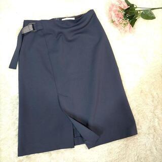 アナディス(d'un a' dix)のアナディス タイトスカート 紺色 36サイズ スリット  a994(ひざ丈スカート)
