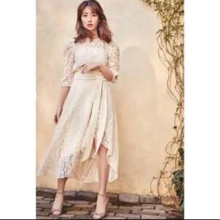 スナイデル(snidel)のher lip to  Belted Asymmetric Lace Dress(ロングワンピース/マキシワンピース)