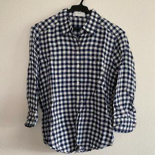 ユニクロ(UNIQLO)のユニクロ チェックリネンシャツ(シャツ/ブラウス(長袖/七分))