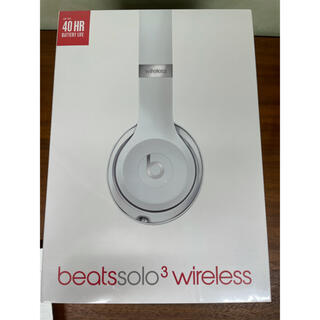 ビーツバイドクタードレ(Beats by Dr Dre)のBeats by Dr Dre SOLO3 WIRELESS シルバー(ヘッドフォン/イヤフォン)