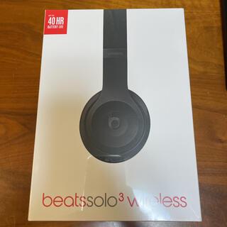 ビーツバイドクタードレ(Beats by Dr Dre)のBeats by Dr Dre SOLO3 WIRELESS ブラック(ヘッドフォン/イヤフォン)