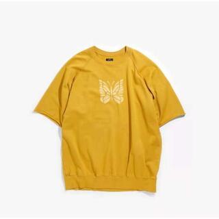 Needles - needles胸の蝶の半袖夏のゆったりしたtシャツを洗うレトロな男女同型