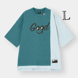 ミハラヤスヒロ(MIHARAYASUHIRO)のGU  ミハラヤスヒロ ビックキリカエT (5分袖)MY L(Tシャツ/カットソー(半袖/袖なし))