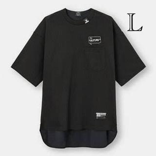 ミハラヤスヒロ(MIHARAYASUHIRO)のオーバーサイズT(5分袖)コンビネーション MY ブラック L(Tシャツ/カットソー(半袖/袖なし))